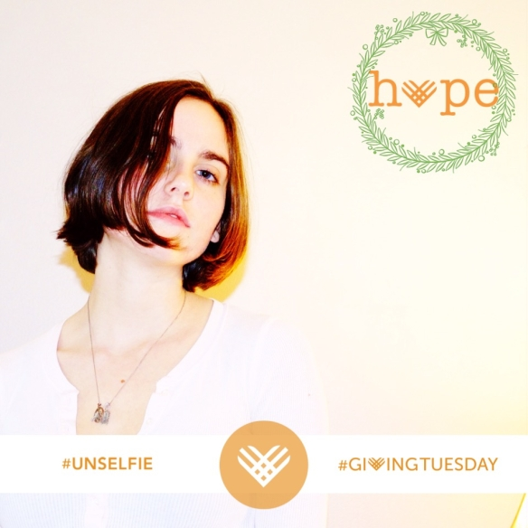 #unselfie #givingtuesday #givehope  This week we lit the first candle of the Advent wreath: the Hope candle. A fitting focus for giving Tuesday. Give hope by giving back, and give back by giving of yourself!