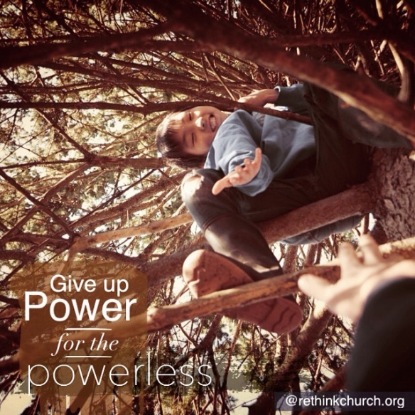 To help the powerless be empowered, one must first give up some power.