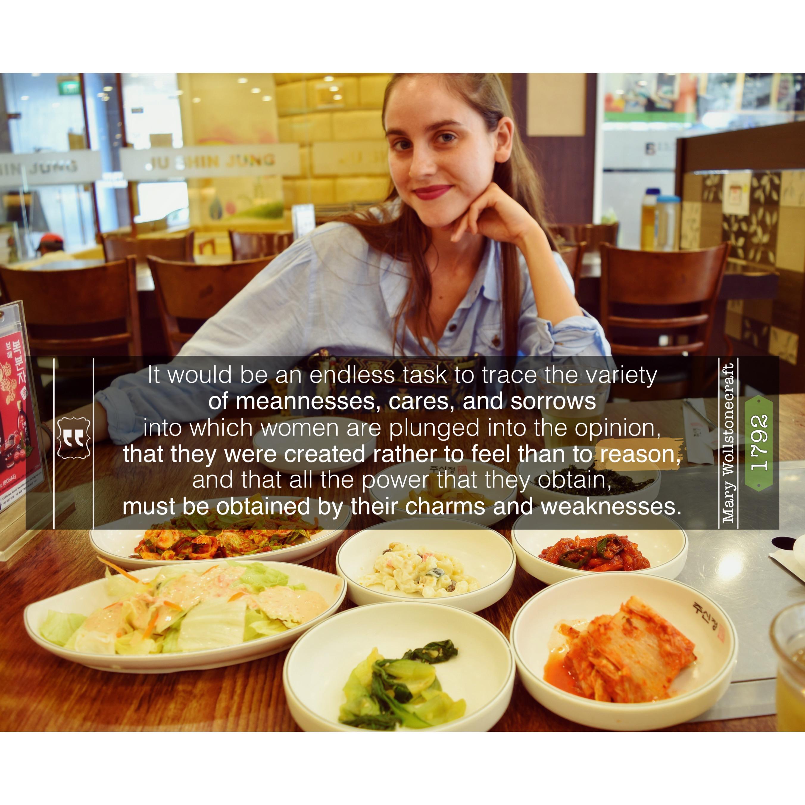 feminism quote korean food